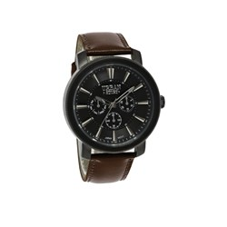 Urban Story Armbanduhr mit einem braunen Lederband__1044414__0__thumb