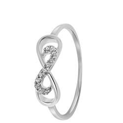 14 Karaat witgouden ring infinity met diamant__1047330__0__thumb