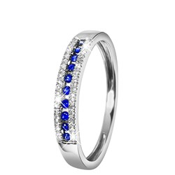 14 Karaat witgouden ring saffier en diamant__1047310__0__thumb