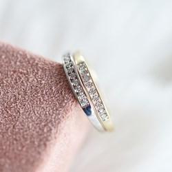 14 Karaat witgouden ring met diamant (0,02ct)__1047466__3__thumb