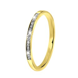 14 Karaat geelgouden rij ring met diamant__1042038__0__thumb