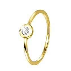 14 Karaat geelgouden ring met diamant__1042048__0__thumb