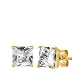 Vergoldete Ohrringe quadratisch mit Zirkonia__1019906__0__thumb