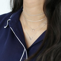 Silberne Halskette rhodiniert V__1042051__1__thumb
