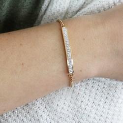 Vergoldetes Stahl-Plattenarmband mit weißem Kristall__1043879__1__thumb