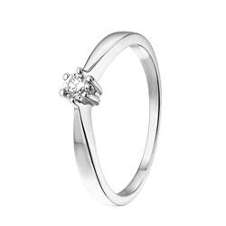 Witgouden solitair ring met diamant (0,12ct.)__1037185__0__thumb