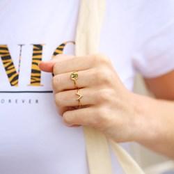 Silberring Alphabet, verstellbar und vergoldet__1048845__2__thumb