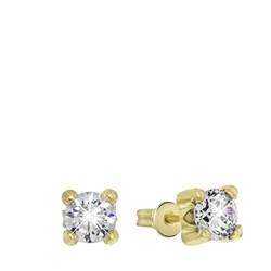 14-karätige, gelbgoldene Ohrringe mit Zirkonia 5 mm__1027015__0__thumb