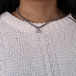 Stalen ketting mesh met kristal hart__1037401__1__thumb