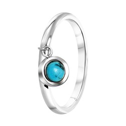 Stalen ring met hanger turquoise__1055063__0__thumb