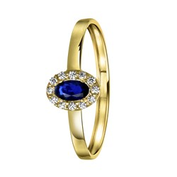 14 karaat gouden ring ovaal met zirkonia __1055108__0__thumb