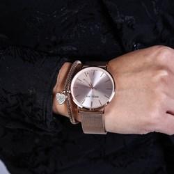 Set aus Edelstahl rotvergoldet mit Armbanduhr__1048593__2__thumb