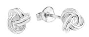 Silberohrringe in Knotenform (1004379)