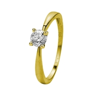 Gelbgoldener Ring mit Zirkonia (1005992)