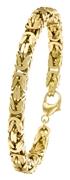 Vergoldetes Herrenarmband mit Königsglied 21 cm (1012444)