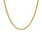 Gold plated ketting met koningsschakel (1012454)