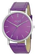 Regal-Uhr Slimline mit lila Lederband R16280-10 (1013283)