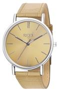 Regal-Uhr Slimline mit beigem Lederarmband R16280-14 (1013295)