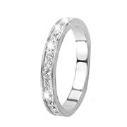 Witgouden ring met kristal (1013474)