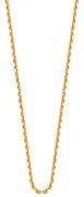 Goldplated ketting met anker schakel (1015595)