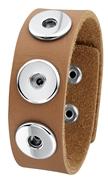 Stalen chunks armband lichtbruin (1018350)