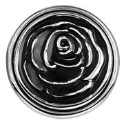 Stalen chunk roos zwart emaille (1018369)