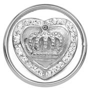 Stalen chunk kristal hart/kroon (1018383)