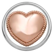 Stalen chunk hart roseplated (1018389)