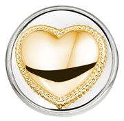 Stahl Chunk Herz vergoldet (1018390)