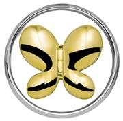 Stahl Chunk Schmetterling vergoldet (1018399)
