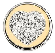 Stalen chunk kristal hart goldplated (1018404)