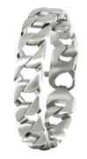 Herrenarmband aus Stahl Gourmet-Kettenglied (1019024)