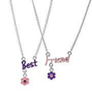 Montini byoux ketting best friends zwart roze (1019323)
