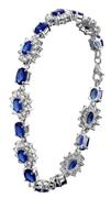 Zilveren armband blauwe zirkonia (1019430)