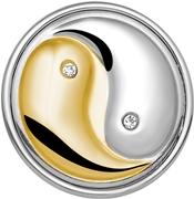 Stahlchunk Yin / Yang aus Stahl und Gold (1020261)