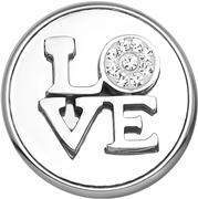 Stalen chunk love met kristal (1020266)
