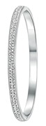 Stalen armband bangle met kristal (1020810)