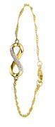 Gelbgold-Armband Infinity mit Diamant (1022810)
