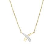 Geelgouden ketting met diamant (1023233)