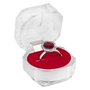 Byoux ring met rode steen en doosje (1031548)