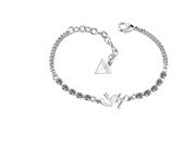 Guess rhodiumplated armband met kristal (1034970)