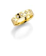 14K gouden trouwring  diamant Magnolia H168 (1036419)