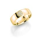 14K gouden trouwring  diamant Oleander H170 (1036420)