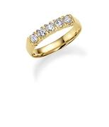 14K gouden trouwring  diamant Calla H200 (1036434)