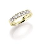 14K gouden trouwring  diamant Anemoon H208 (1036438)