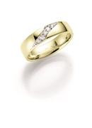 14K gouden trouwring  diamant Crassula H216 (1036441)