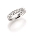 14K witgouden trouwring  diamant Anemoon H209 (1036468)