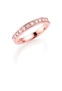14K rosegouden trouwring  diamant Ixia H166R (1036478)