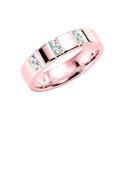14K rosegouden trouwring  diamant Paeonia H198R (1036493)