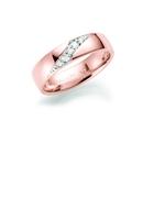 14K rosegouden trouwring  diamant Crassula H216R (1036501)
